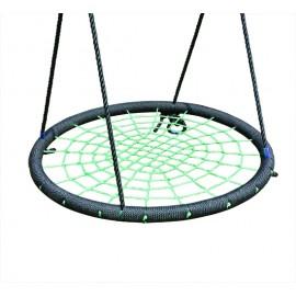 Fészekhinta 120 cm, fekete/zöld